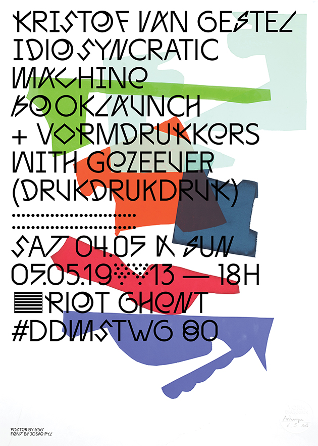 Book Launch 'Idiosyncratic Machine/Idiosyncratische Machine' + Vormdrukkers